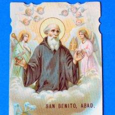 Postales: ESTAMPA RELIGIOSA. SAN BENITO, ABAD. Lote 295521468