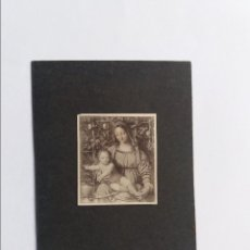 Postales: ESTAMPA - RELIGIOSA - MARIA Y SU HIJO - 7X10 CM. (FOTO 3.5 X 4 CM). Lote 295798493