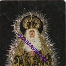 Postales: SEMANA SANTA MARCHENA,1989, POSTAL RECUERDO CULTOS VIRGEN DE LA SOLEDAD. Lote 296844808