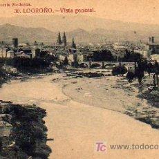 Postales: LOGROÑO - VISTA GENERAL Nº 30. Lote 5802574
