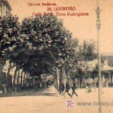 Postales: LOGROÑO - CALLE DE TIRSO RODRIGUEZ. Lote 5802613