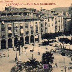 Postales: LOGROÑO - PLAZA DE LA CONSTITUCION. Lote 5802653