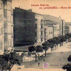 Postales: LOGROÑO - MURO DE CARMELITAS. Lote 5802726