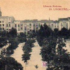 Postales: LOGROÑO - PASEO DEL ESPOLON. Lote 5802796