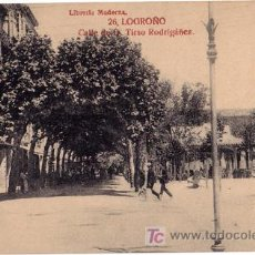 Postales: TARJETA POSTAL DE LOGROÑO. CALLE DE D. TIRSO RODRIGEZ Nº26 LIBRERIA MODERNA. Lote 6015770