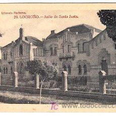 Postales: POSTAL DE LOGROÑO Nº29, ASILO DE SANTA JUSTA, LIBRERIA MODERNA, FOTO GILDO. Lote 7371686