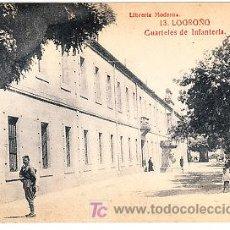 Postales: POSTAL DE LOGROÑO Nº13, CUARTELES DE INFANTERIA LIBRERIA MODERNA, FOTO GILDO. Lote 7371721