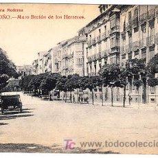 Postales: POSTAL DE LOGROÑO Nº11, MURO BRETON DE LOS HERREROS, LIBRERIA MODERNA FOTO GILDO. Lote 7371738