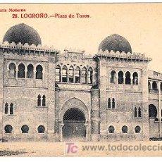 Postales: POSTAL DE LOGROÑO Nº28, PLAZA DE TOROS, LIBRERIA MODERNA FOTO GILDO. Lote 7371799