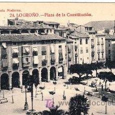 Postales: POSTAL DE LOGROÑO Nº24, PLAZA DE LA CONSTITUCION LIBRERIA MODERNA FOTO GILDO. Lote 7378437