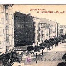 Postales: POSTAL DE LOGROÑO Nº19, MURO DE CARMELITAS LIBRERIA MODERNA FOTO GILDO. Lote 7378472