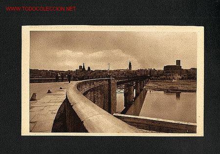 POSTAL DE LOGROÑO (LA RIOJA): PUENTE DE HIERRO (EXCL.LC) (Postales - España - La Rioja Antigua (hasta 1939))