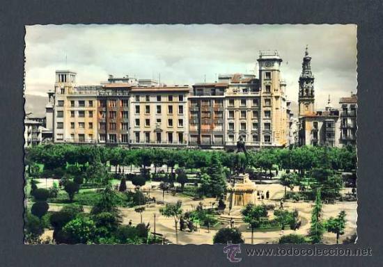 POSTAL DE LOGROÑO: JARDINES DEL ESPOLON (ED.G.GARRABELLA NUM.11) (Postales - España - La Rioja Antigua (hasta 1939))