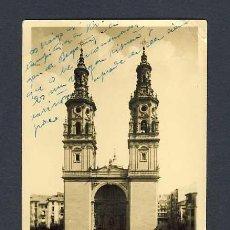 Postales: POSTAL DE LOGROÑO: IGLESIA DE LA REDONDA CON SUS TORRES GEMELAS (NUM.10). Lote 10708618