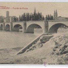 Postcards - TARJETA POSTAL DE LOGROÑO PUENTE DE PIEDRA LA RIOJA - 13501483