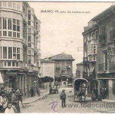 Cartes Postales: POSTAL HARO PLAZA DE CANALEJAS . Lote 14992097