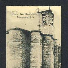 Postales: POSTAL DE NAJERA (LA RIOJA): SANTA MARIA LA REAL, EXTERIOR DE LA IGLESIA (HAUSER Y MENET NUM. B-1). Lote 15989387