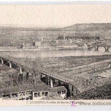 Cartes Postales: TARJETA POSTAL DE LOGROÑO Nº 7. PUENTES DE HIERRO Y DE PIEDRA. FOTO L. ROISIN. Lote 16322445