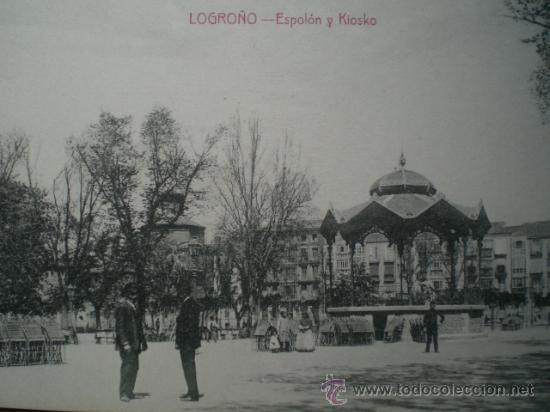 Postales: LOGROÑO.- ESPOLÓN Y KIOSKO - Foto 2 - 22009283