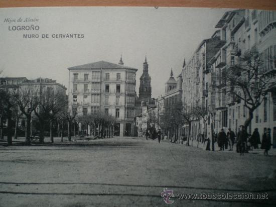 Postales: LOGROÑO.- MURO DE CERVANTES. - Foto 2 - 22009285