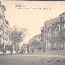 Postales: LOGROÑO (LA RIOJA).- CALLE DE BRETÓN DE LOS HERREROS. Lote 19591160