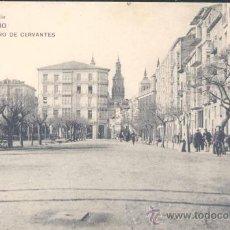 Postales: LOGROÑO (LA RIOJA).- MURO DE CERVANTES. Lote 19591283