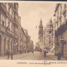 Postales: LOGROÑO.-CALLE DEL GENERAL MOLA. Lote 20120547
