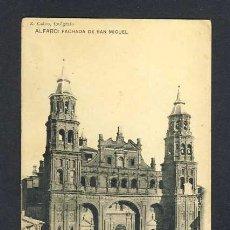 Postales: POSTAL DE ALFARO (LA RIOJA): FACHADA DE SAN MIGUEL (FOTOTIP.HAUSER Y MENET). Lote 22732340