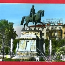 Postales: POSTAL DOBLE ,LOGROÑO,LA RIOJA, ESTATUA DEL GENERAL ESPARTERO , 9 X 23 CMS.. Lote 289403113