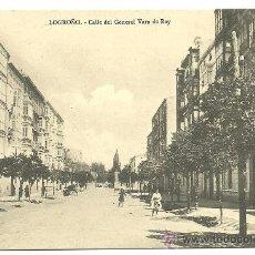 Postales: TARJETA POSTAL DE LOGROÑO - CALLE DEL GENERAL VARA DE REY. Lote 23184637