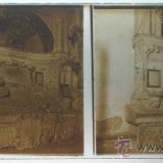 Postales: ANTIGUA FOTOGRAFIA ESTEREOSCOPICA DE CRISTAL DE SANTO DOMINGO DE LA CALZADA (LA RIOJA) - MIDE 12,8 X. Lote 23739816