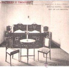 Postales: LOGROÑO - GRAND HOTEL . UNO DE LOS GRANDES DORMITORIOS - PROPIETARIOS ESTEBAN Y TROCONIZ - (5541). Lote 25385040