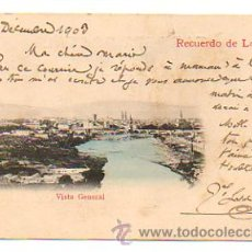 Postales: RECUERDO DE LOGROÑO. VISTA GENERAL. (ED. VDA. VENANCIO DE PABLO, Nº 1). CIRCULADA EN 1903. . Lote 29034362
