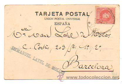Postales: RECUERDO DE LOGROÑO. VISTA GENERAL. (ED. VDA. VENANCIO DE PABLO, Nº 1). CIRCULADA EN 1903. - Foto 2 - 29034362