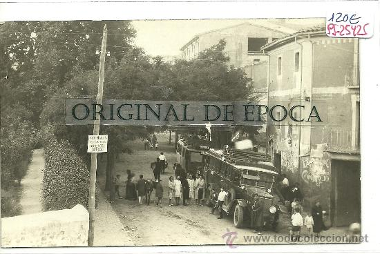 (PS-25425)POSTAL FOTOGRAFICA DE ARNEDO-PARADA DE LOS COCHES DE LINEA (Postales - España - La Rioja Antigua (hasta 1939))