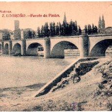 Postcards - TARJETA POSTAL LOGROÑO, LA RIOJA, PUENTE DE PIEDRA, GILDO - 30159262
