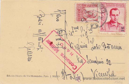 AÑO 1937 BARRIO DE SAN FELICES EN HARO. RARA POSTAL 66 HILARIO VAL VIÑETA JOSE ANTONIO PRIMO RIVERA. (Postales - España - La Rioja Antigua (hasta 1939))