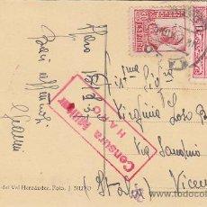 Postales: AÑO 1937 BARRIO DE SAN FELICES EN HARO. RARA POSTAL 66 HILARIO VAL VIÑETA JOSE ANTONIO PRIMO RIVERA.. Lote 30247595
