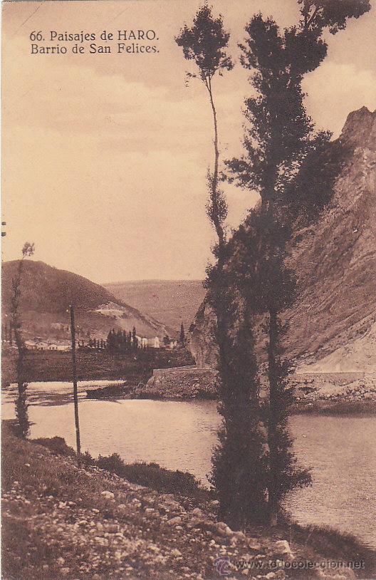 Postales: AÑO 1937 BARRIO DE SAN FELICES EN HARO. RARA POSTAL 66 HILARIO VAL VIÑETA JOSE ANTONIO PRIMO RIVERA. - Foto 2 - 30247595