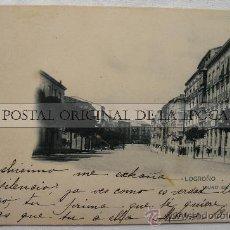 Postales: (RI-2) POSTAL LOGROÑO, MURO DE LAS ESCUELAS. Lote 31075458