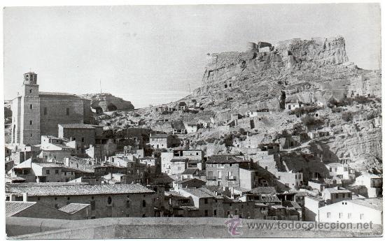 ARNEDO, VISTA PARCIAL CON IGLESIA SANTA EULALIA Y CASTILLO, FOTOGRAFICA (Postales - España - La Rioja Antigua (hasta 1939))