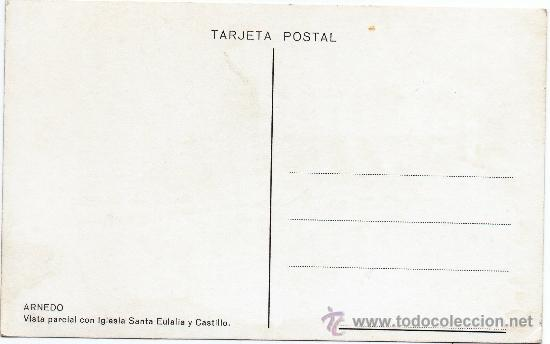 Postales: ARNEDO, VISTA PARCIAL CON IGLESIA SANTA EULALIA Y CASTILLO, FOTOGRAFICA - Foto 2 - 32348546