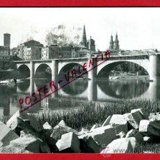 Cartoline: POSTAL LOGROÑO, PUENTE DE PIEDRA, P73948. Lote 34719527