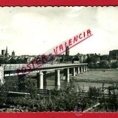 Cartoline: POSTAL LOGROÑO, PUENTE DE HIERRO SOBRE EL EBRO, P73968. Lote 34719726