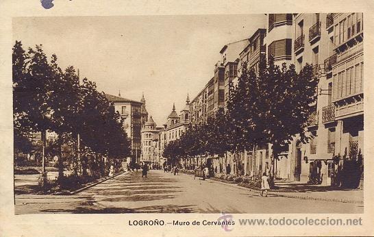 RRR POSTAL DE LOGROÑO - LA RIOJA - MURO DE CERVANTES - ARRIBAS (Postales - España - La Rioja Antigua (hasta 1939))