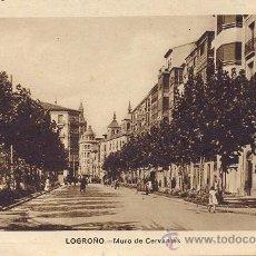 Postales: RRR POSTAL DE LOGROÑO - LA RIOJA - MURO DE CERVANTES - ARRIBAS. Lote 35874637
