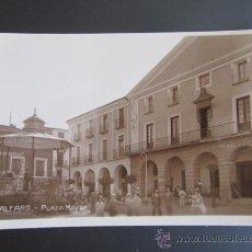 Postales: ANTIGUA POSTAL FOTOGRÁFICA DE ALFARO, LA RIOJA. PLAZA MAYOR.. Lote 37615434