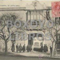 Postales: LOGROÑO: CUARTEL DE ARTILLERÍA. HIJOS DE ALESÓN. ESCRITA Y CIRCULADA. Lote 38430122
