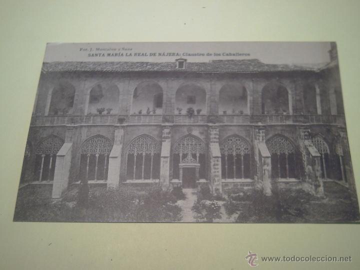 SANTA MARÍA LA REAL DE NÁJENA:CLAUSTRE DE LOS CABALLEROS - FOT. J. MONTALVO Y SANZ - HAUSER Y MENET (Postales - España - La Rioja Antigua (hasta 1939))