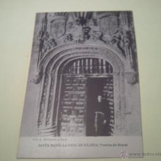 Postales: SANTA MARÍA LA REAL DE NÁJENA:PUERTA DE REYES - FOT. J. MONTALVO Y SANZ - HAUSER Y MENET. Lote 40281143